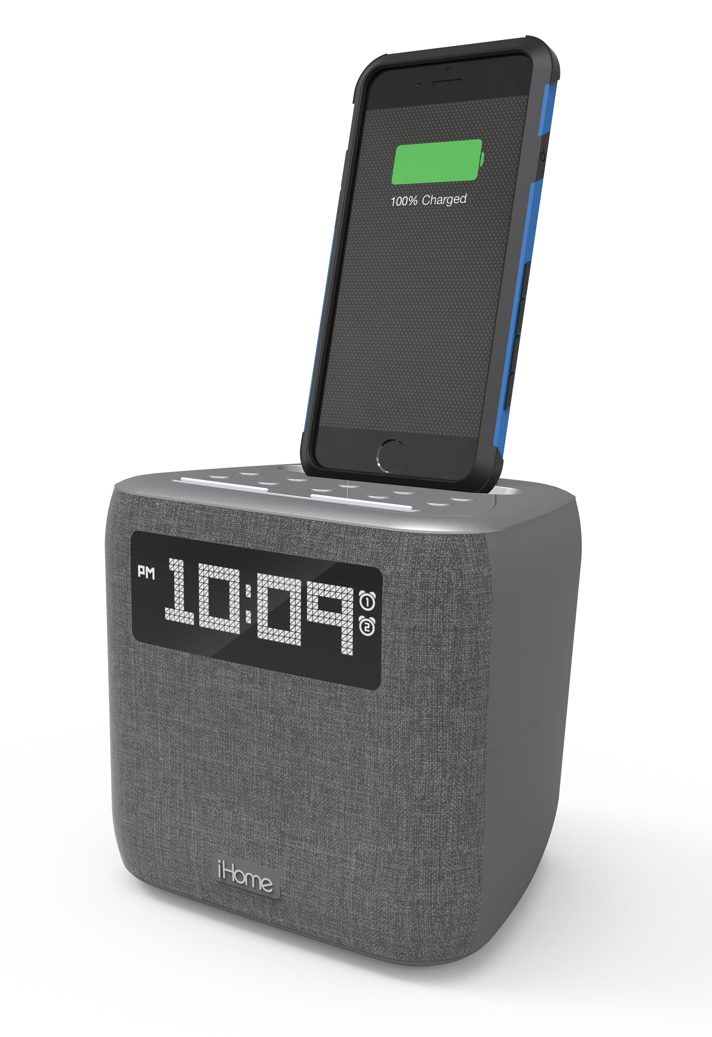 85569d9e358d iHome iPL8 Speaker System with Lightning Dock and Alarm - Walmart.com