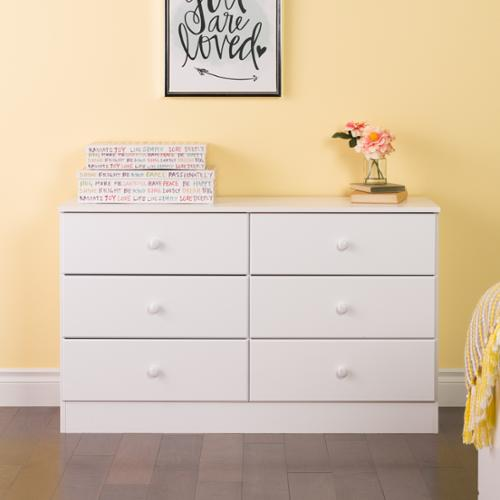 Prepac Bella 6-Drawer Dresser, White by Overstock