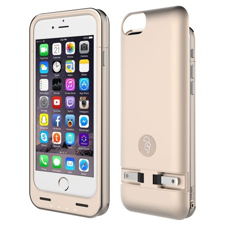 iPhone 6/6S Battery Case, 2300mAh Rechargeable External Power Case for Apple iPhone 6/6S Gold (Rechargeable Battery Case S5)