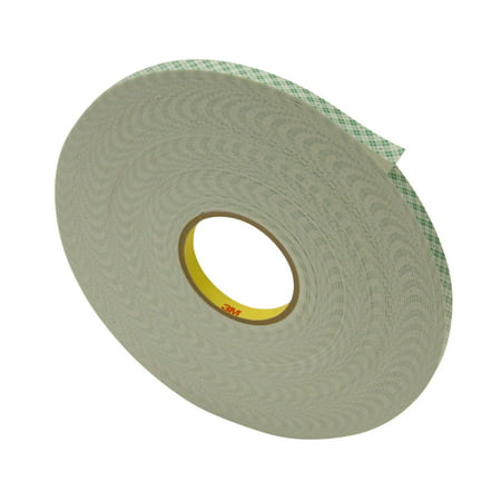 3M Scotch 4016 Double Coated Urethane Foam Tape: 1/16 in. thick x 1/2 in. x 36 yds. (Off-White)