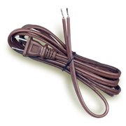 National Artcraft 6 Ft. Brown SPT-2 Lamp Cord With Fully Tinned Ends