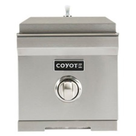 "Image of ""Coyote C1SBLP Stainless Steel 15000 BTU 10"""" Wide Liquid Propane Side Burner For Coyote"""