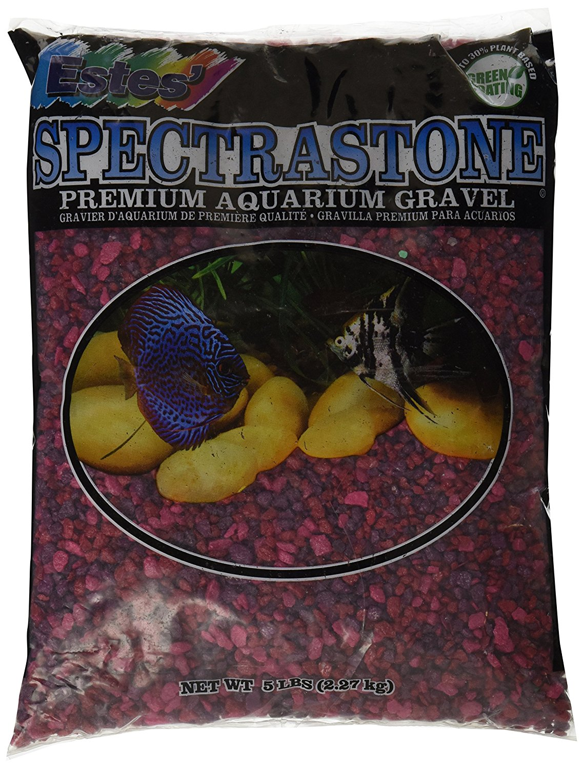 Berry Lake Aquarium Gravel for Freshwater Aquariums, 5-Pound Bag, Will not affect PH By Spectrastone by