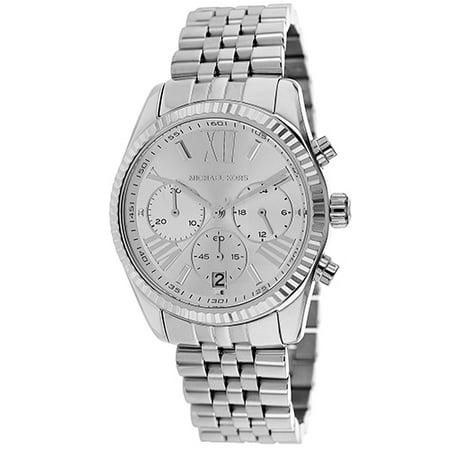 f080ef4bd760 Michael Kors - Michael Kors Women s Lexington MK5555 Silver Stainless-Steel  Quartz Fashion Watch - Walmart.com