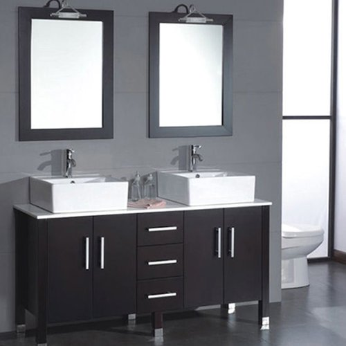 Cambridge Plumbing Silkwood 59'' Double Bathroom Vanity Set with Mirror