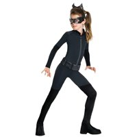 Catwoman Costume Girls Child Kids Size Batman Jumpsuit Outfit
