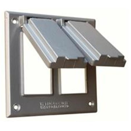 Two Gang Weatherproof Covers - 2 GFCI Receptacles Gray
