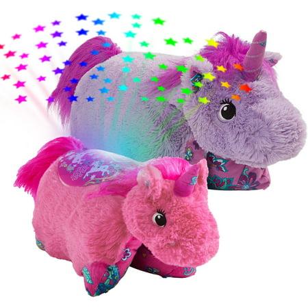 Lavender Unicorn Plush Pillow Pet & Pink Unicorn Sleeptime ...