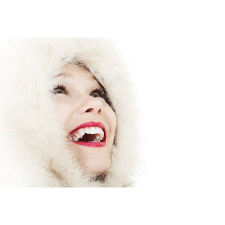 Framed Art for Your Wall Face Elegance Fashion Cold Girl Female Fun Smile 10x13