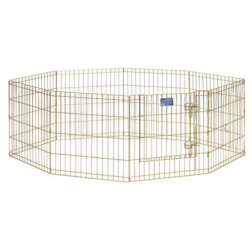 Midwest Gold Exercise Pen with Door