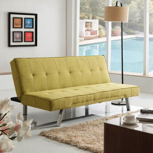 Corvus  Kiwi Green Fabric Futon Sleeper Sofa