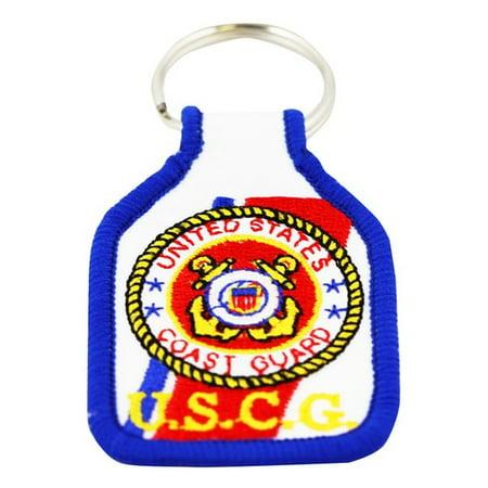 Rush Industries, INC US Coast Guard Embroidered Keychain