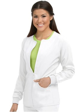 Activate by Med Couture Women's Warm Terrain Zip Up Solid Scrub Jacket
