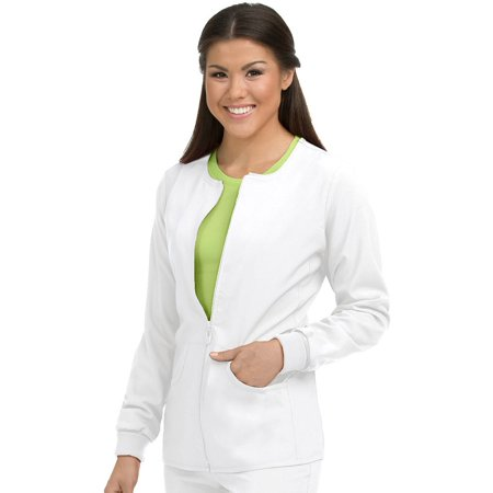 Couture Leather Jackets - Activate by Med Couture Women's Warm Terrain Zip Up Solid Scrub Jacket