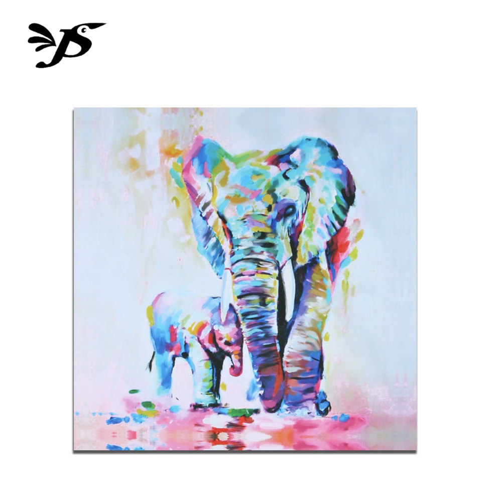 Wall Art Decoration, Outgeek Modern Canvas Painting Colorful Elephants Pattern Home Wall Decoration for Home Bedroom Dinning Room Living Room Decor