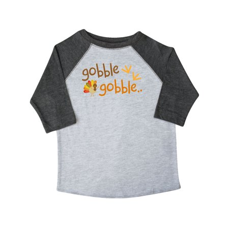 44c1a1bb Inktastic - Gobble Gobble Thanksgiving Toddler T-Shirt - Walmart.com
