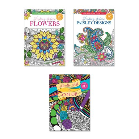 Coloring Book Set - Adult Coloring Books - Set of Coloring Books, Many Different Designs Combined! Mandala Coloring Books for Adults with Detailed Flower Designs Printed on Heavy Paper. (Design C)