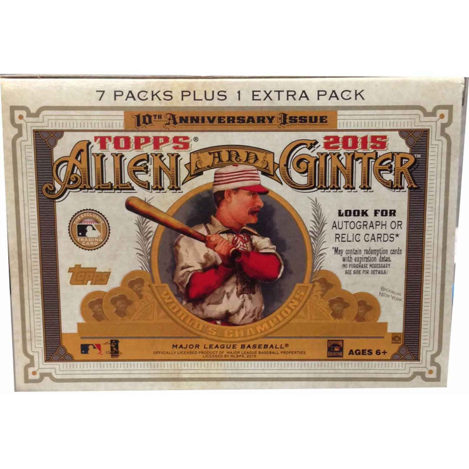 2015 Topps Allen & Ginter Trading Card Blaster Box 10th Anniversary Issue