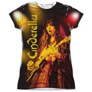 Cinderella - Live Show (Front/Back Print) - Juniors Cap Sleeve Shirt - Large