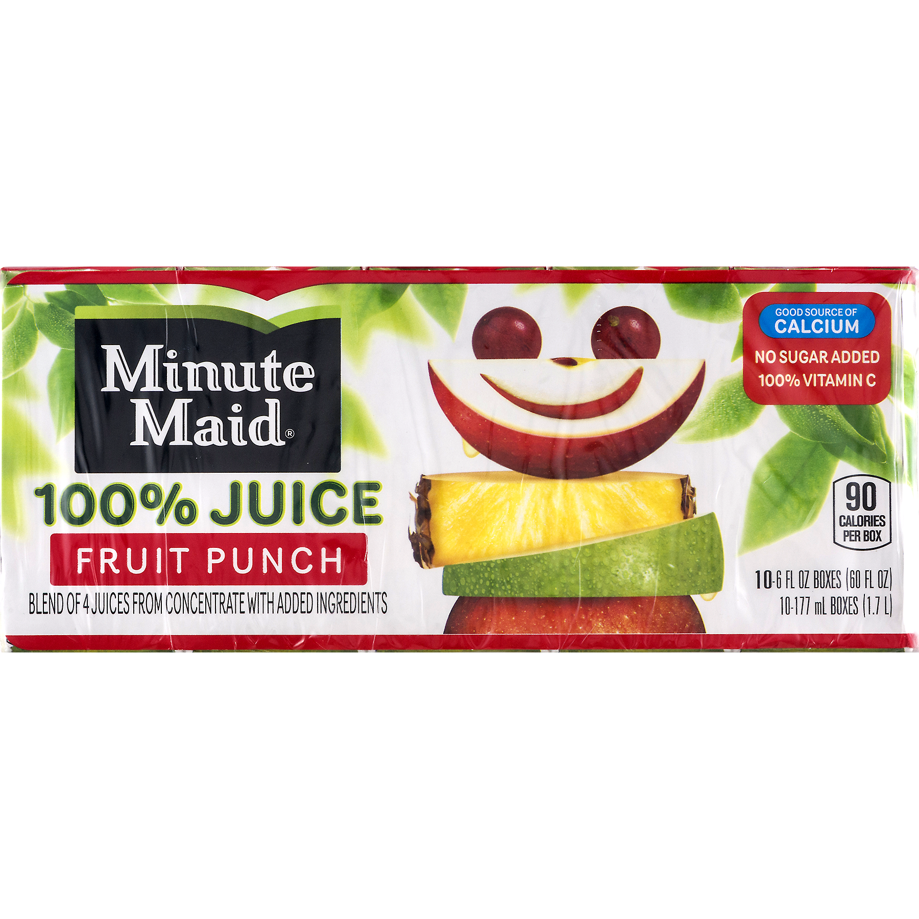 Minute Maid Fruit Punch 100% Juice, 6
