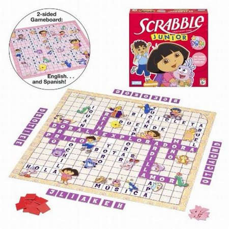 (Dora Scrabble Jr Crossword Game Kids Letter Matching)