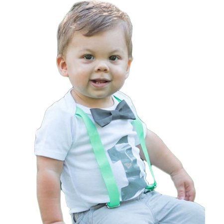 Noah's Boytique Baby Boys 1st First Birthday Bodysuit Outfit Shirt with Bow Tie 6-12 M  - First Birthday Onesie