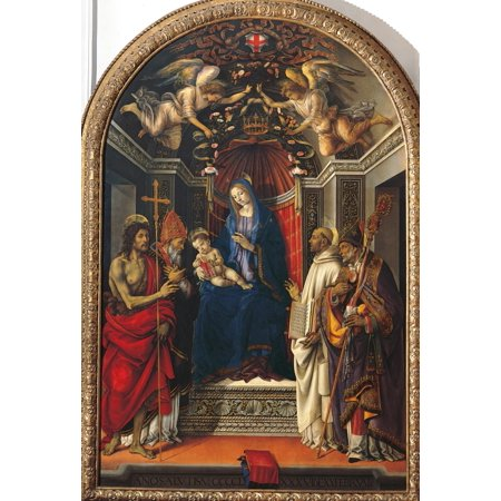 The Virgin And Child With St John The Baptist Canvas Art -...