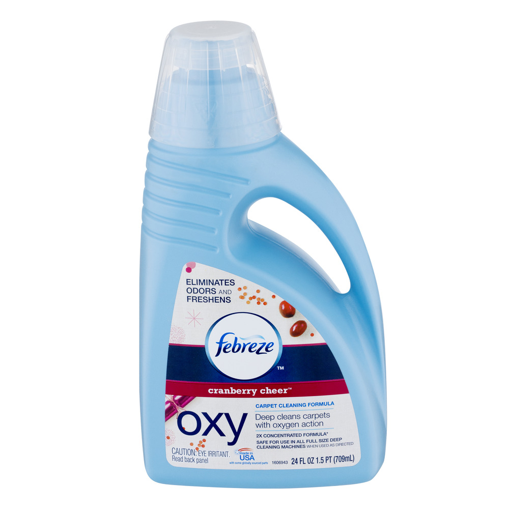 Febreze Oxy Carpet Cleaning Formula Cranberry Cheer, 24.0 FL OZ