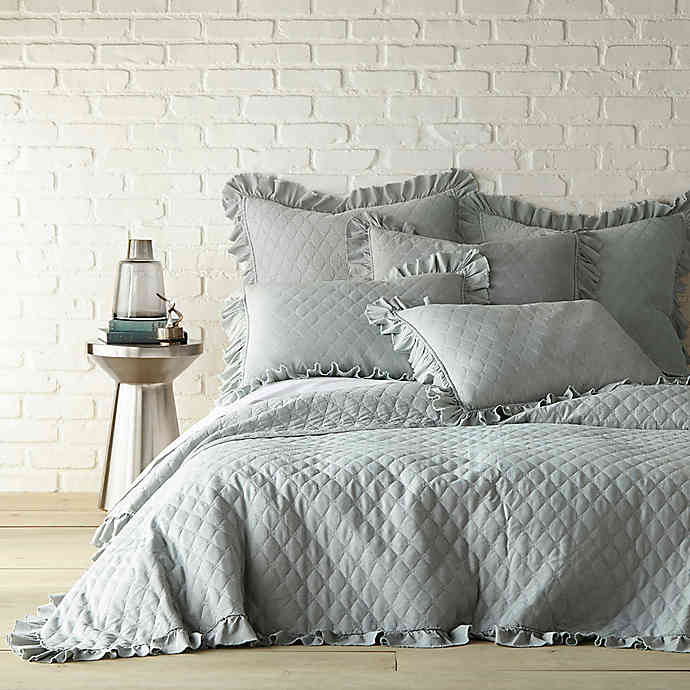 Queen Quilt In Seafoam Blue, Seafoam Blue Bedding