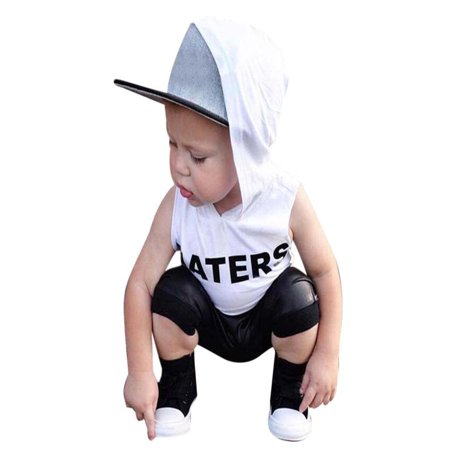 Mosunx 2pcs Toddler Kids Baby Boys Tops Hoodie T-shirt+ Shorts Pants Outfit Clothes Set