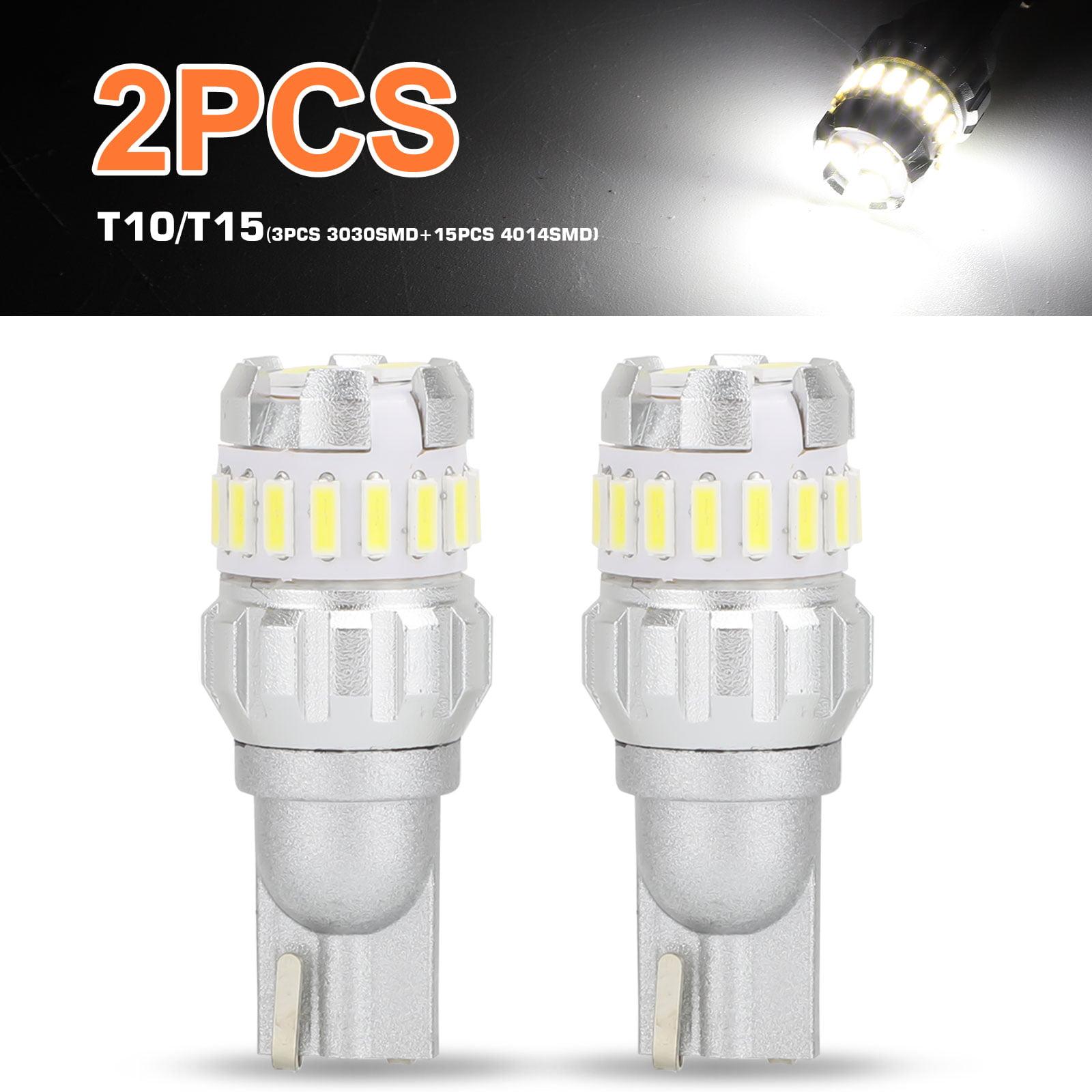 2pcs Car Auto 6000K Super White Back Up Reverse LED Lights Bulbs Accessories Kit