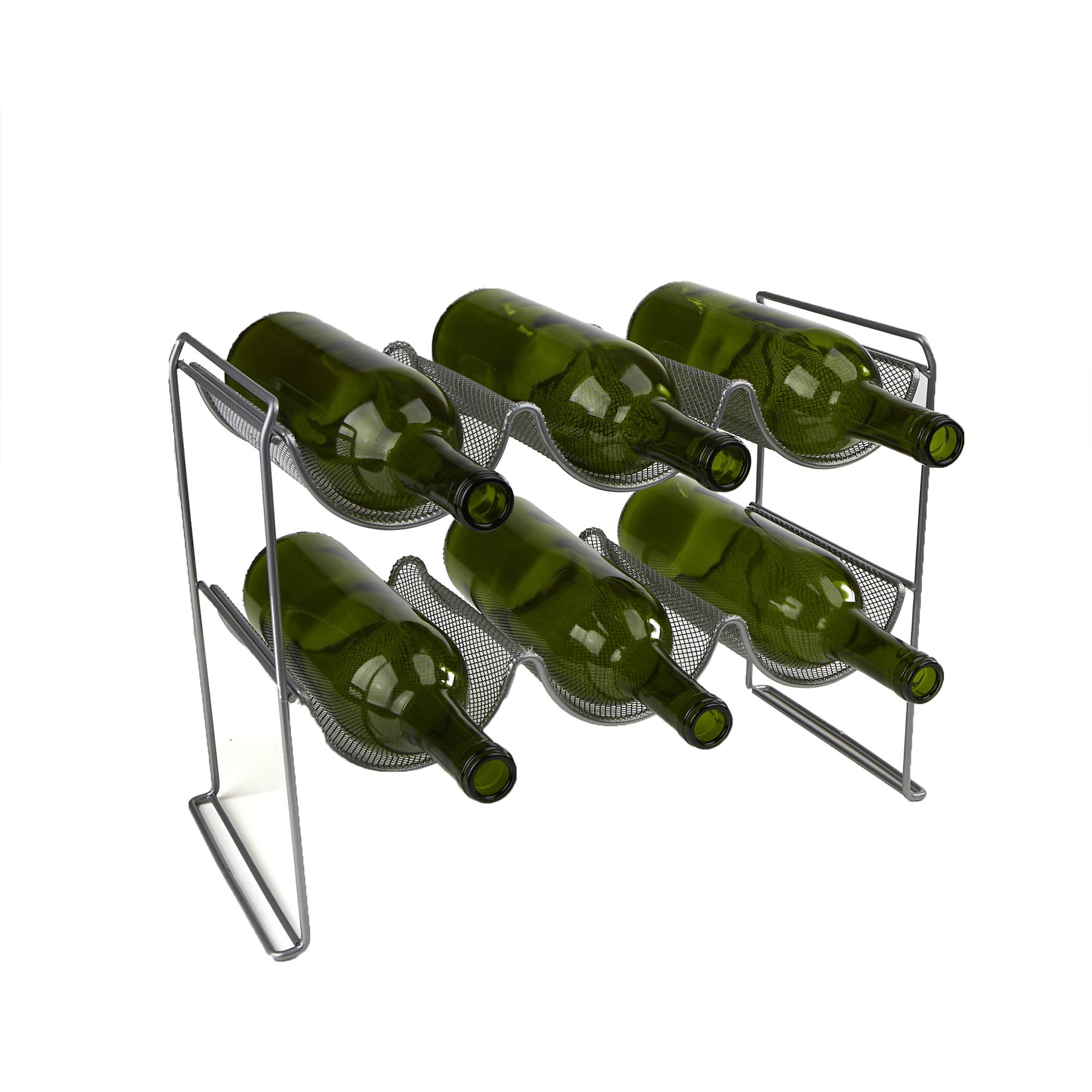 Mind Reader Wine Rack Stand Holds 6 Bottles of Wine, Wine Bottle Holder, Perfect for Bar, Wine Cellar, Counter-top... by EMS Mind Reader LLC
