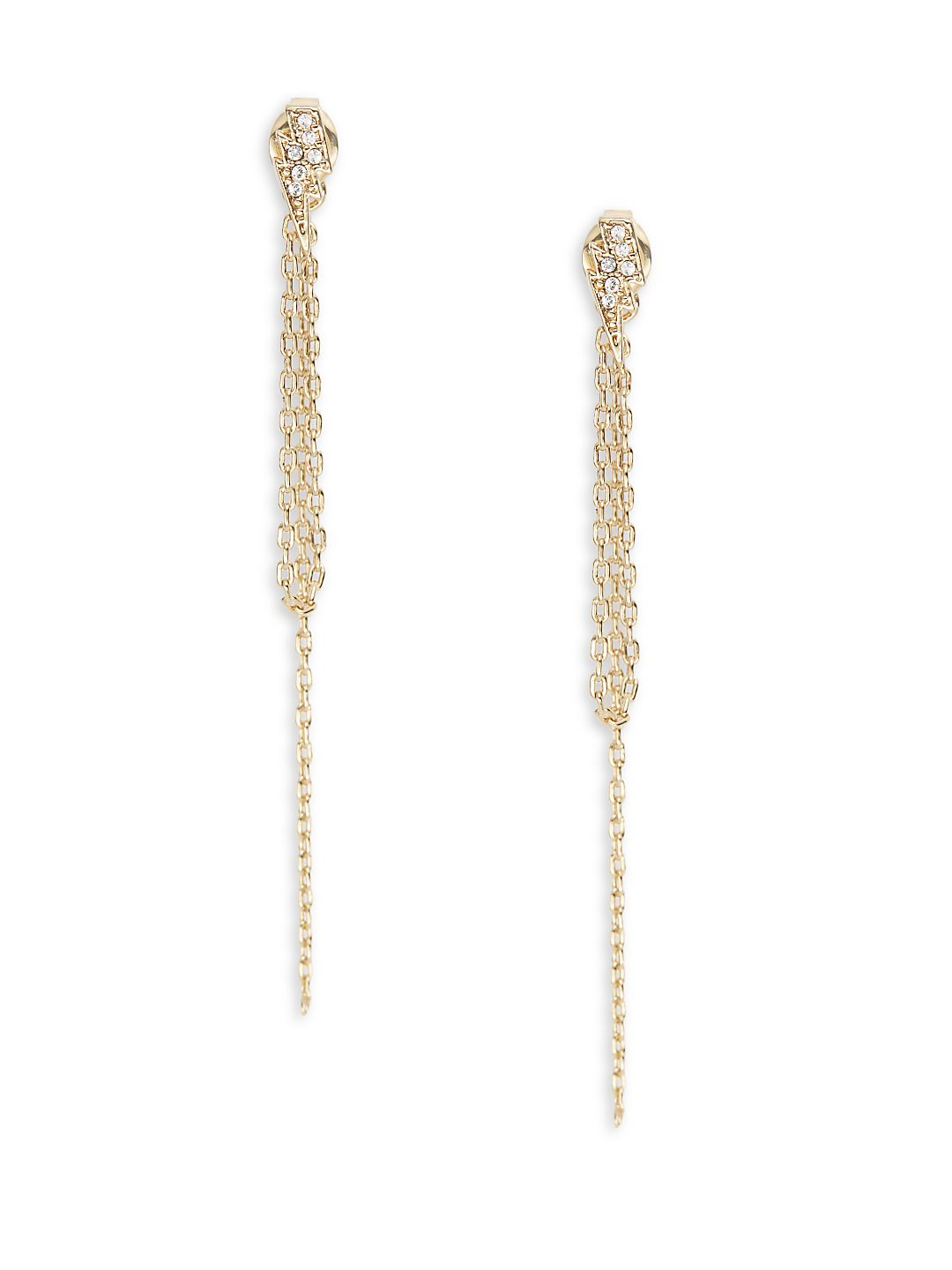 Lightning Bolt Chain Earrings