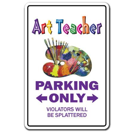 ART TEACHER Decal parking Decals school artist painter instructor | Indoor/Outdoor | 5