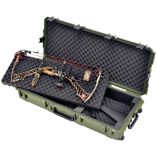 "SKB Sports iSeries Parallel Limb Double Bow/Rifle Case, 40 x 16 x 5.5"", Olive"