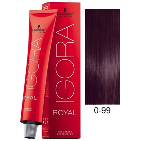 Schwarzkopf Igora Royal Permanent Hair Color Creme Tube 0-99 Violet Concentrate