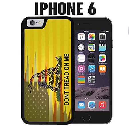 Ganma NEW Case For iPhone Case Dont Tread On Me Best Flag Case For iPhone 6 / 6s (4.7 INCH), Black 2 in 1 Heavy