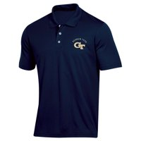 Men's Russell Athletic Navy Georgia Tech Yellow Jackets Classic Dot Mesh Polo