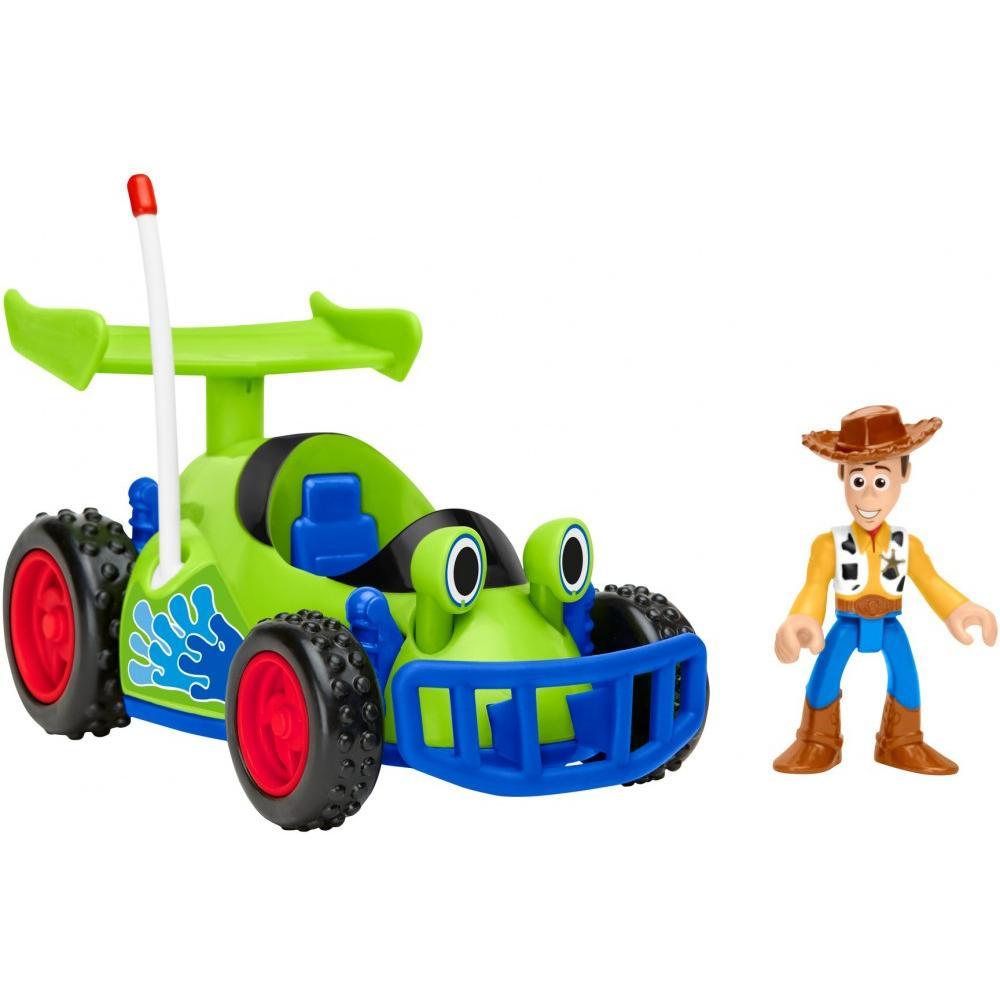 Imaginext Disney/Pixar Toy Story 4 Woody Figure & RC Vehicle Set
