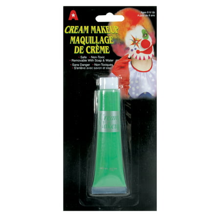 Loftus Halloween Costume Non-Toxic Face & Body 0.5 Oz Cream Makeup, - Green Costume Makeup