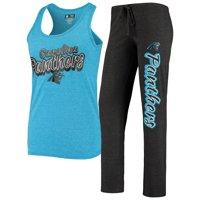 Carolina Panthers Concepts Sport Women's Satellite Slub Pants and Tank Top Sleep Set - Black/Blue