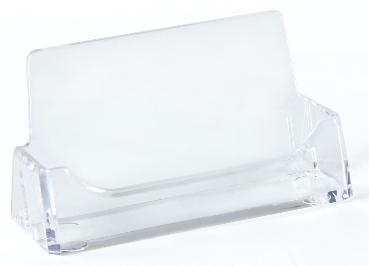 Set of 100, Clear Acrylic Business Card Holders For Desktop Use ...