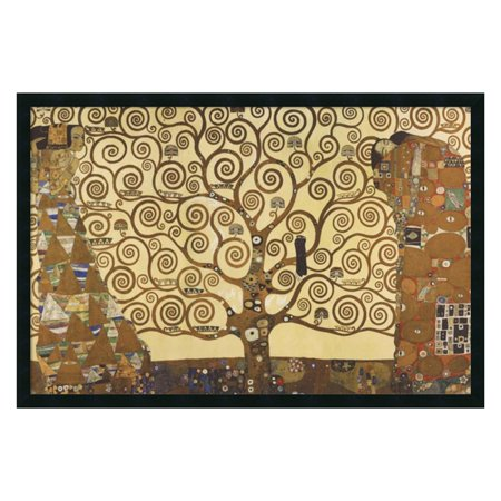 The Tree of Life, 1905-1911 Framed Wall Art by Gustav Klimt - 37.41W x 25.41H in.