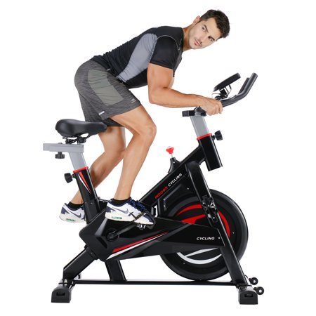 Spinning Belt (Stationary Exercise Bike Exercise Equipment, Indoor Cycling Exercise Bike Cycling, w/30 lb Flywheel, Belt Drive & LCD Monitor with Pulse, Professional Exercise Bike for Home and Gym Workout Use,S10640 )
