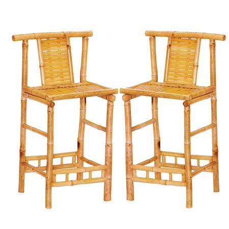 Bamboo54 KD Bamboo Bar Stools - Set of 2