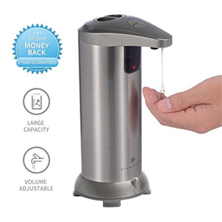 GLAMFIELDS Soap dispenser, Touchless Stainless Steel Automatic Soap  Dispenser, IR Infrared Motion Sensor Hand Free Dish Soap for Kitchen and  Bathroom, ...