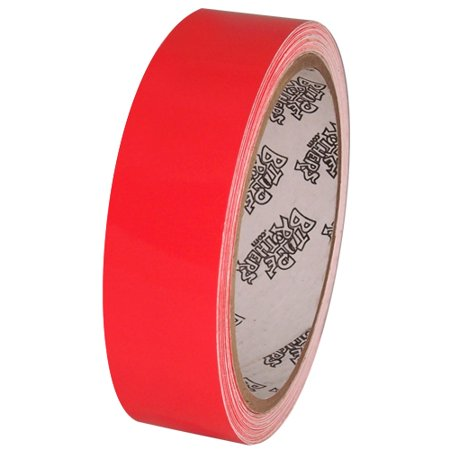 Tape Planet Fluorescent Red 1 inch x 10  yards Premium Cast Vinyl Tape (Fluorescent Red 1 Inch Number)