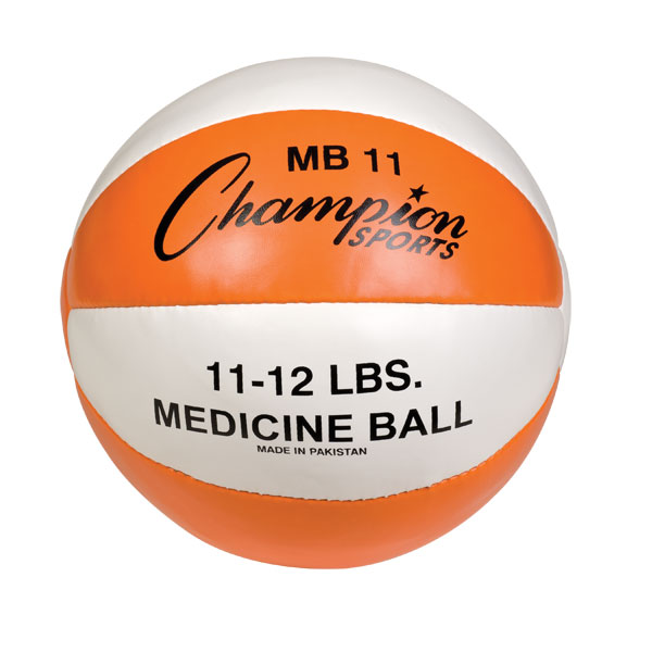 11-12lb Leather Medicine Ball by Champion Sports