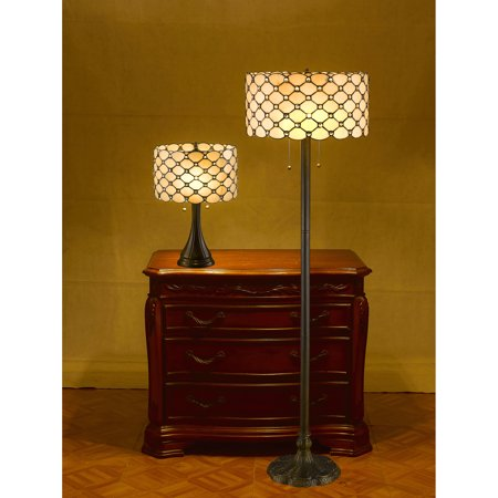 Serena d\'italia Jeweled Table and Floor Lamp Set - Walmart.com