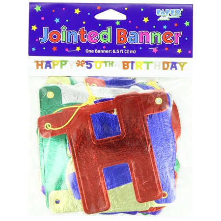 Party Decoration Jointed Banner Happy 50th Birthday 6 Feet